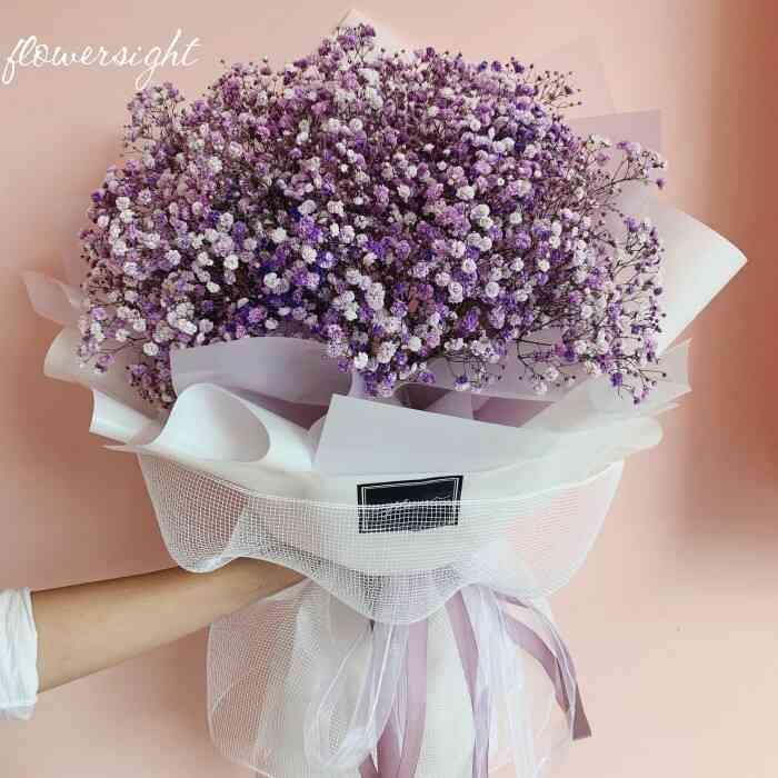 bó hoa tươi giá rẻ dạng tròn
